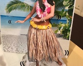 Dancing Hawaiian Paper Doll (Personalized)
