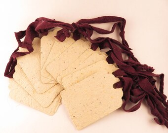 10 Gift Tags - Handmade paper