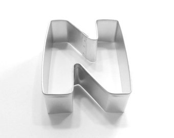Capital Letter N Cookie Cutter