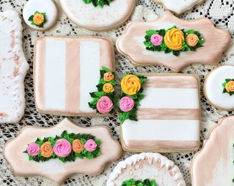 Gold Floral Cookies