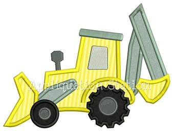 Tractor Bulldozer Backhoe Boy Applique Machine Embroidery Design farm vehicle INSTANT DOWNLOAD