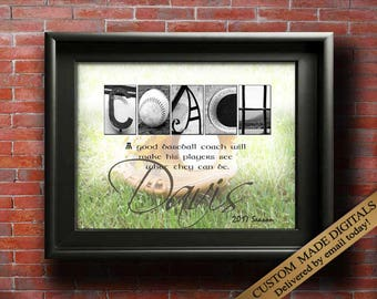 Baseball Coach Gift Idea for COACH Baseball Mom SPORTS Gift For Coaches Quote Baseball Gift Baseball Team Coach Art Baseball Party PRINTABLE