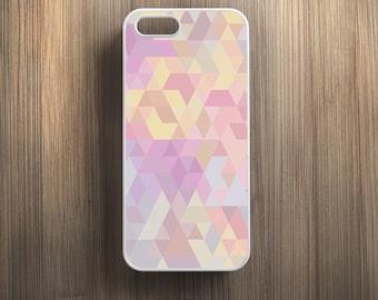 Pastel Pink Geometric Pattern. iPhone 4/4s, iPhone 5/5s, iPhone SE, iPhone 6, iPhone 6 Plus Case Cover 051