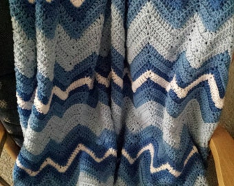 Crocheted Rolling Ripples Afghan