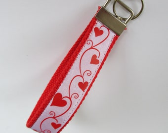 Hearts Lanyard Keychain for Women, Cool Lanyards for Women, Hearts Keychain Lanyard, Cute Wristlet Lanyard, Cute Key Fobs