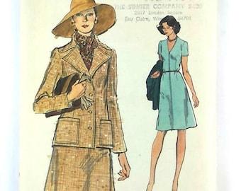 Vtg EASY VOGUE Sewing Pattern 8984 Dress & Jacket Sz 14 Bust 36