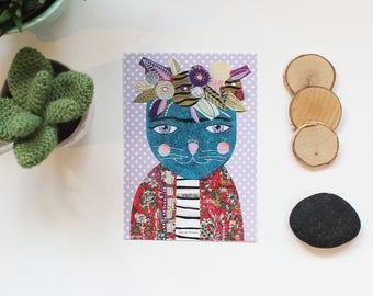 "Carte postale ""Sweet Purple Frida"", 10,5x14,7cm"