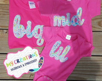 Sister Shirts Big, Mid,Lil **Each Sold Seperately**