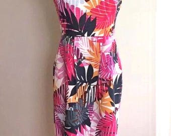 Tropical/Tiki Strapless Dress