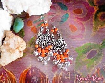 Exotic Garnet Amp Amethyst Crystal Moroccan Chandelier Earrings