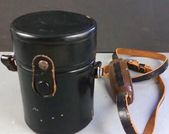 Nikon CL-9 F Black Rigid Leather Case for Nikkor 105mm 85mm 55mm 1.2 lenses w/Strap