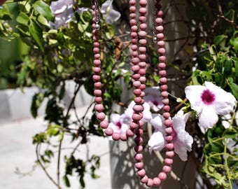 Quality Pink Rhodonite graduated necklace Gemstone beaded necklace Gemstone beaded jewelry