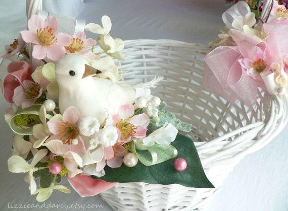 Pink dogwood blush hydrangea silk flower white dove bird nest mightylinksfo