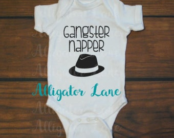 Gangster Napper baby bodysuit toddler tshirt newborn baby funny baby shirt pro nap - baby one tshirt piece graphic t