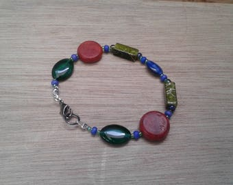 Beaded bracelet - autumn colours