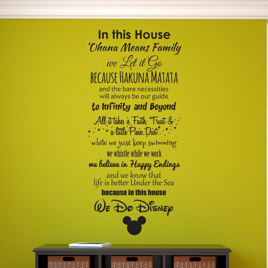 Disney Wall Decal Disney Wall Sticker Family Wall Decal