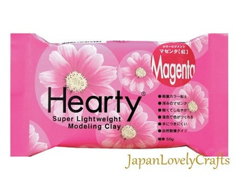 Japanese Hearty Magenta Clay, 50g, Super lightweight Modeling Clay, Padico, Fake Sweets, Food Miniatures, Figure Doll, Accessories, DIY,c003