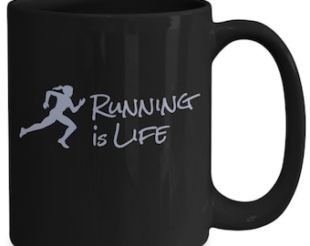 Running is life - coffee mug for her