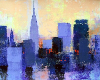 NY SKYLINE by Colin Ruffell. Signed and numbered Fine-art print.