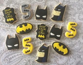 Batman sugar cookies Batman Party Favors