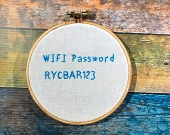 Hand embrodiered small hoop Doctor Who fandom funny home decor