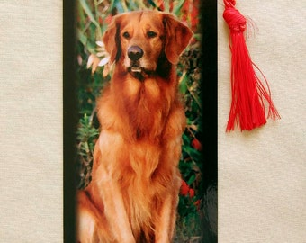 Golden Retriever Bookmark  (Red)