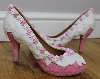 Pink and White Cake Shoes