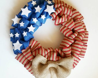 Memorial Day Wreath   4th Of July Wreath - Flag Wreath - Patriotic Wreath - Military Wreath - Veterans Wreath - Summer Wreath