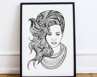 A1 / A2 Beyonce Poster | Music Print