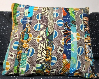 CUSHION COVER patchwork home DECORATION african wax print batik vintage patterns popular design up cycling creation