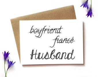 card from bride, from bride to groom, new husband card, wedding day