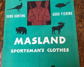 Vintage Masland Sportsman's Clothes Catalog - Hunting, Fishing