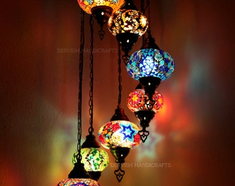 Handmade mosaic lamps lighting with by dervishhandicrafts on etsy ceiling light moroccan decor led lights moroccan lamp mosaic lamp moon aloadofball Images