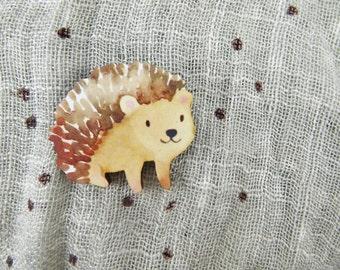Happy Hedgehog Brooch