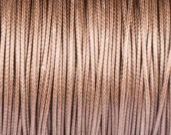 1.5 Korean waxed polyester cord 10 mm beige