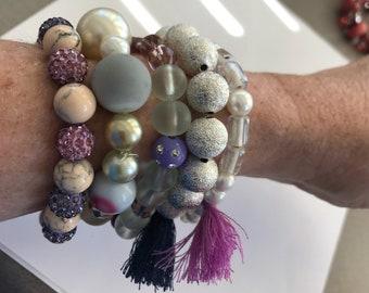 Lenora Dame 5 piece stretch bracelet set