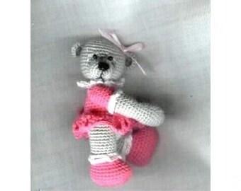 FRIDA Mini Thread Crochet Bear Pattern by Edith Molina - PDF Instant Download
