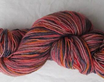 """Plain & Fancy """"Scarlet Variegated"""" Fine Wool Yarn"""