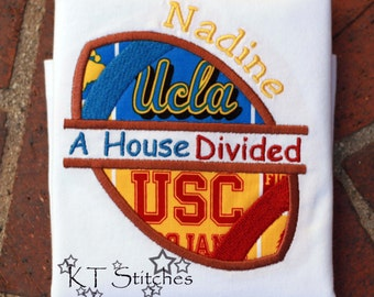 USC/UCLA House Divided Bodysuit or T-Shirt - Personalized
