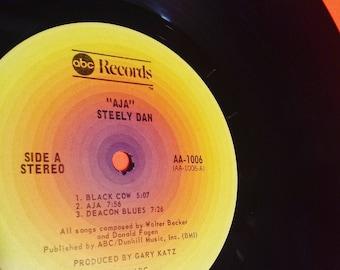 STEELY DAN: Aja - vinyl record album music classic rock guitar retro vintage seventies 70s '70s 70's 1970s eighties '80s 80s 80's 1980s