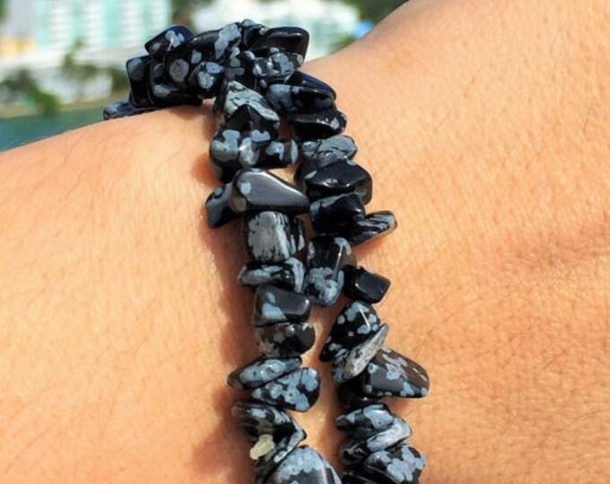 Snowflake Obsidian Bracelet/Healing Stone/Crystal Healing