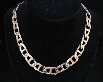 10K Solid Yellow Gold Chain Necklace Heavy Mariner Link Vintage Estate 16 Inches Long Over 14 Millimeters Wide Nearly 72 Grams Mother's Day