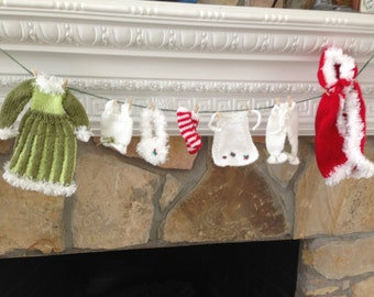 Mrs. Claus's Laundry Hand Knitted