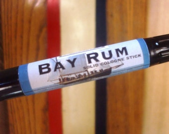 Solid COLOGNE Stick - BAY RUM - classic manly scent  - .99 shipping