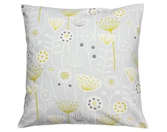 Bergen Grey Scandinavian Fryetts Scandi Fabric Cushion Cover