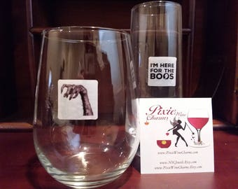 Halloween Glass Decals - Creep It Real, 6/pack - Glass Not included