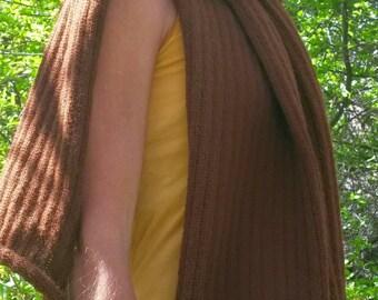 Made to order-alpaca or organic merino wool- long and wide scarf, shawl, wrap