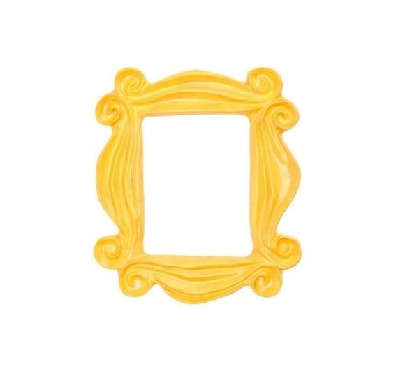 Handmade Yellow Peephole Frame as seen on Monicas Door on