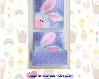 Peeking Easter Bunny Coaster Set-Plastic Canvas pattern-PDF Download