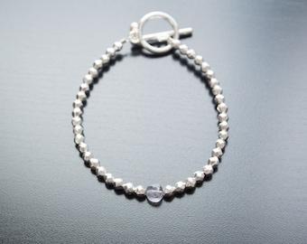 Silver Dream Bracelet - Iolite Gemstone, Semi-precious, Gifts For Her, Anniversary Gift, Silver Bracelet, Silver Jewelry, Bridal Bracelet